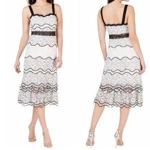 Foxiedox Lumma White Lace MIDI Dress Size 6